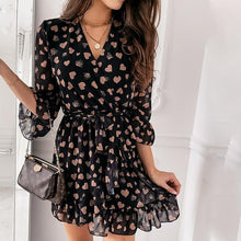 Load image into Gallery viewer, Love Print Three-quarter Sleeve Dress