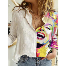 Load image into Gallery viewer, Printed Long Sleeve Casual Blouse