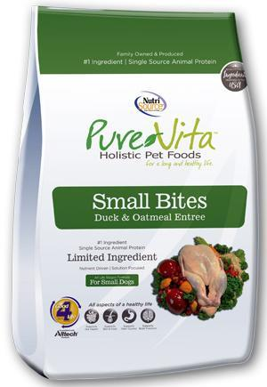 PureVita Small Bites Duck & Oatmeal Recipe Dry Dog Food