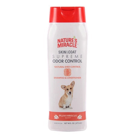 Nature's Miracle Skin & Coat Supreme Odor Control - Shed Control Shampoo & Conditioner