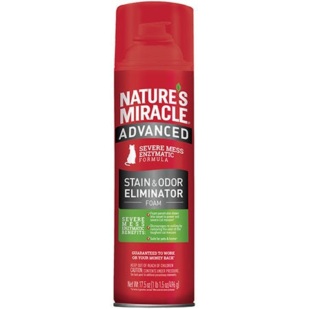 Nature's Miracle Advanced Stain and Odor Eliminator - Foam For Cats