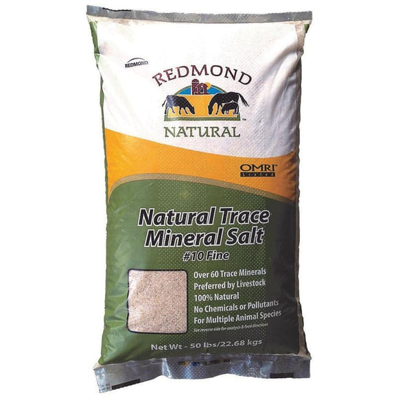 REDMOND NATURAL TRACE MINERAL SALT #10 FINE FOR LIVESTOCK