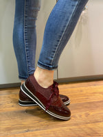 Load image into Gallery viewer, Caprice - Bordeaux Smart Ladies Brogue Style Shoe