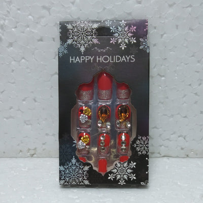 Happy Holidays Artificial Nails