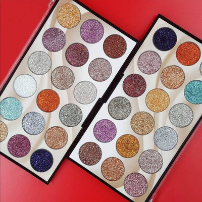 Miss rose 18 Colors Glitter Palette