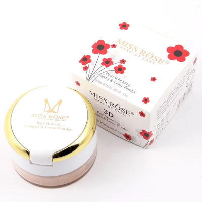 Miss rose Pearl Whitening Compact & Lose Powder