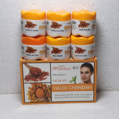 DermaFace Haldi Chandan Facial kit Small Size