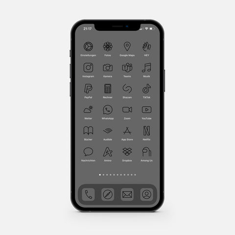 Minimalistic Carbon – App Icon Pack