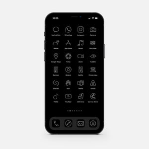 Minimalistic Black – App Icon Pack (205 pcs)