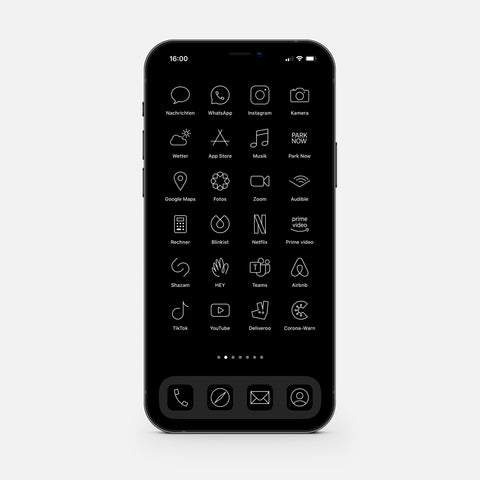 Minimalistic Black – App Icon Pack (513 pcs)