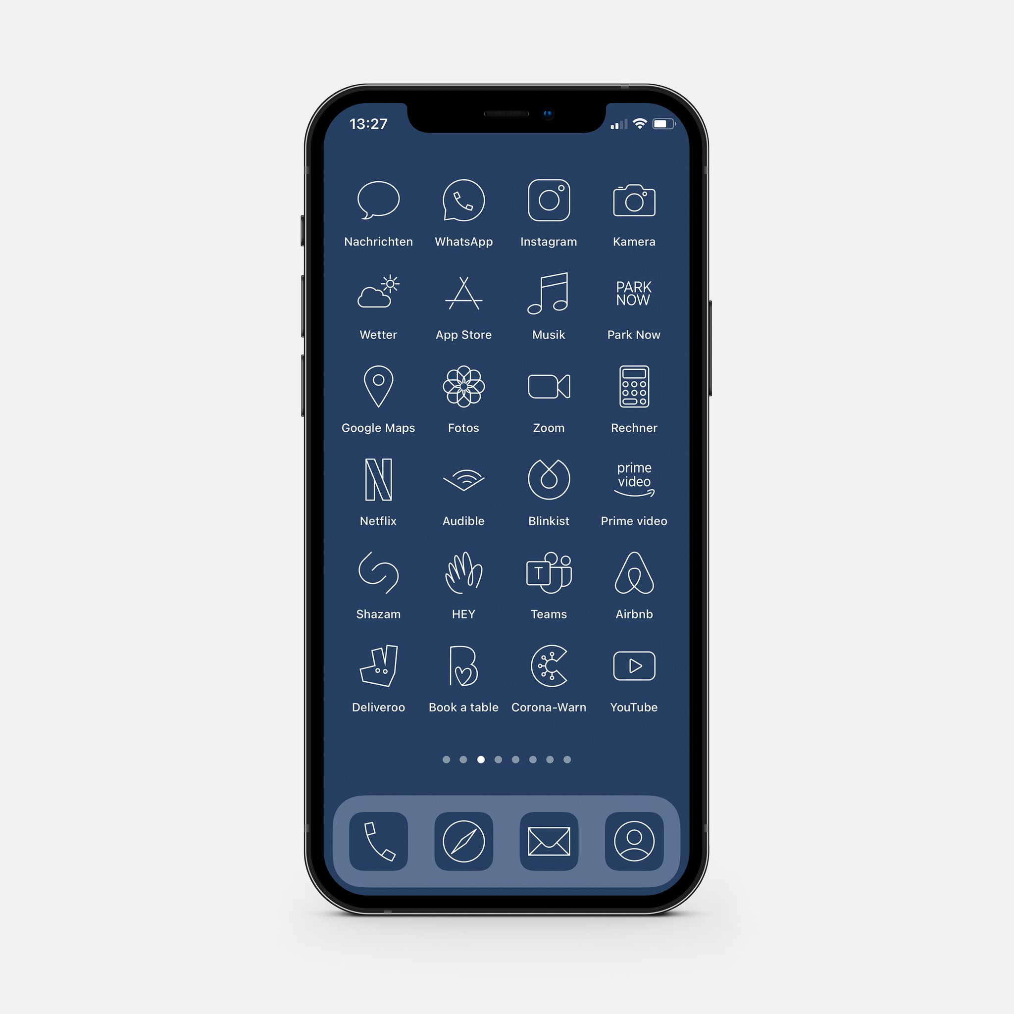 Minimalistic Blue – App Icon Pack
