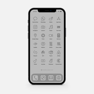 Minimalistic Gray – App Icon Pack
