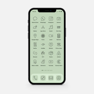 Minimalistic Green – App Icon Pack