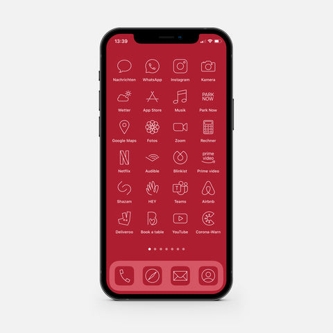 Minimalistic Red – App Icon Pack