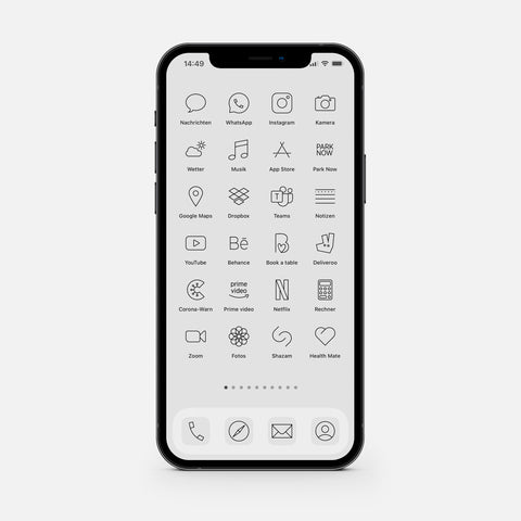 Minimalistic Silver – App Icon Pack