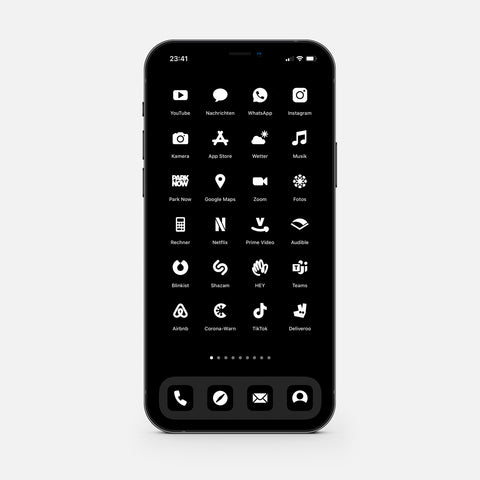 Solid Black – App Icon Pack