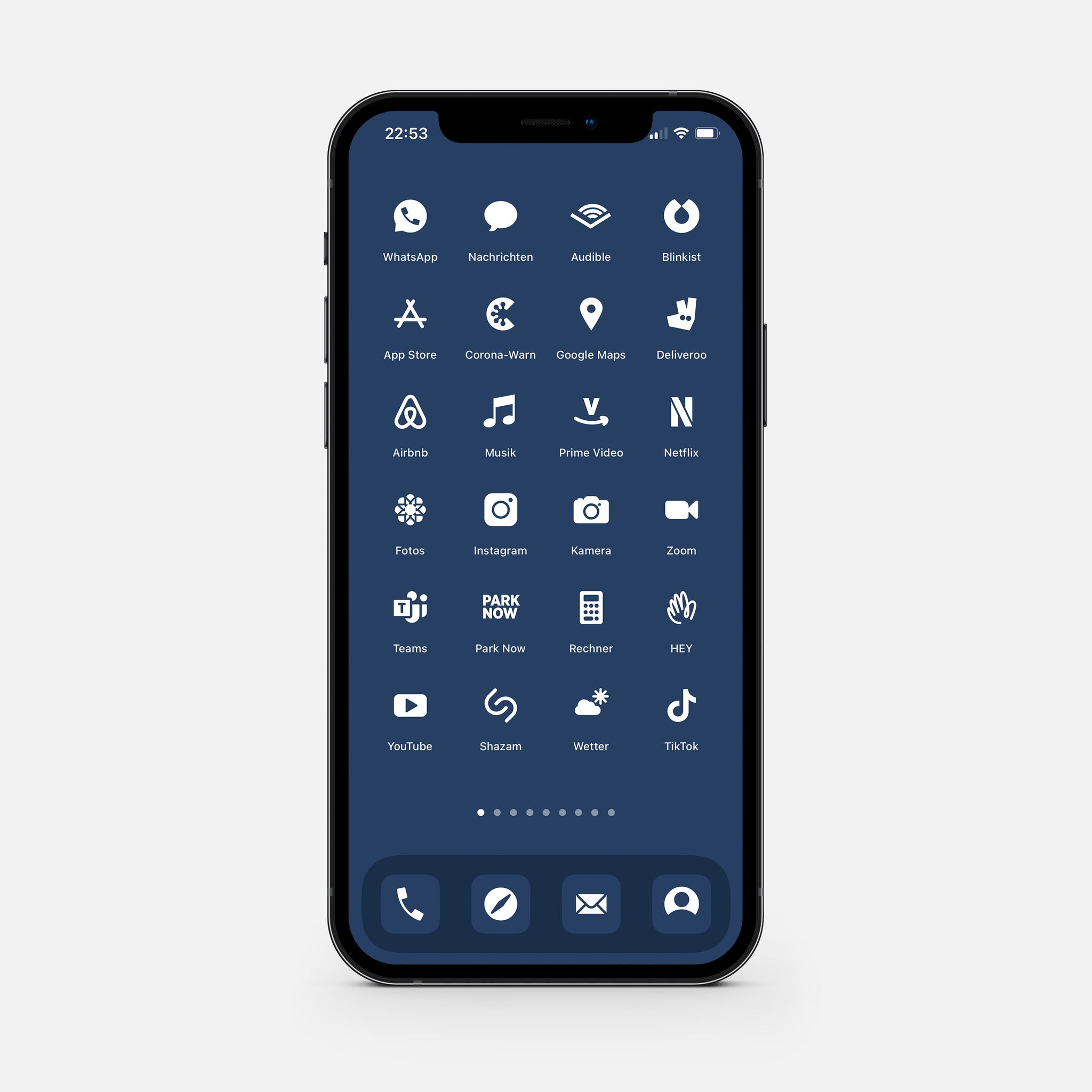 Solid Blue – App Icon Pack