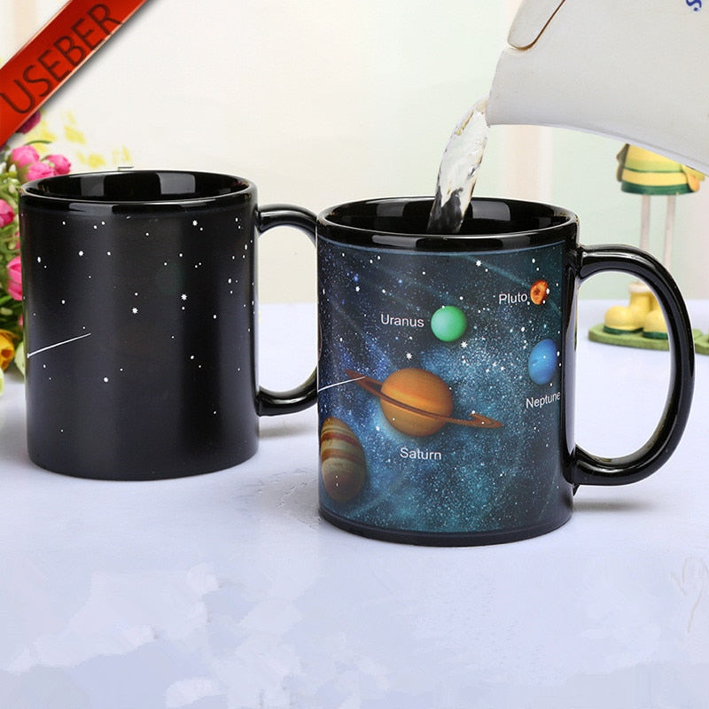 Heat-Changing Galaxy Mugs