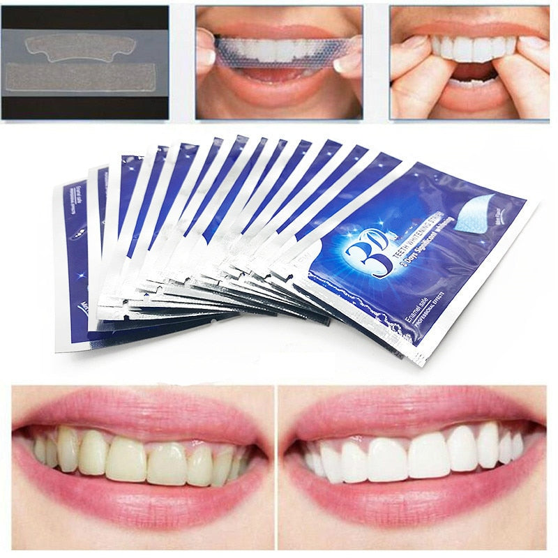 28Pcs/14Pair Gel Teeth Whitening Strips