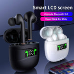 Bluetooth Headphones Waterproof LED Display HD Stereo