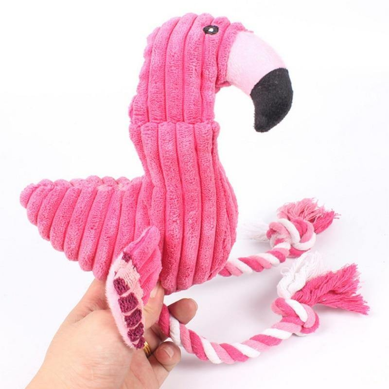 Flamingo Chew Toy - Love Pawz