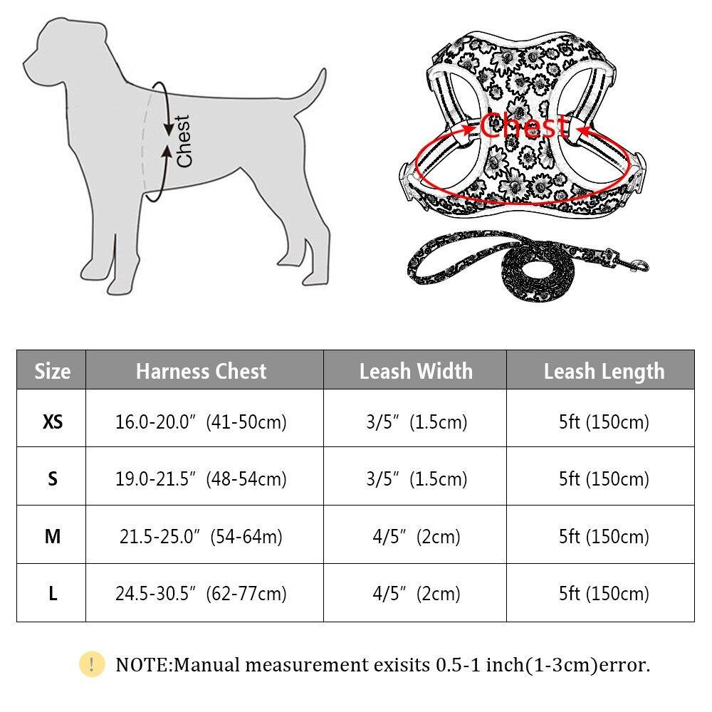 Flower Nylon Harness And Leash - Lovepawz