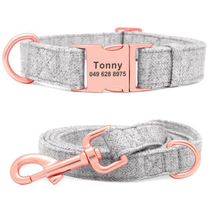 Fabric Soft Collar N Leash Set
