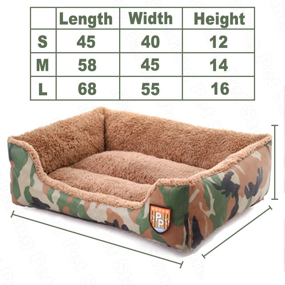 Camo Dog Bed - Love Pawz