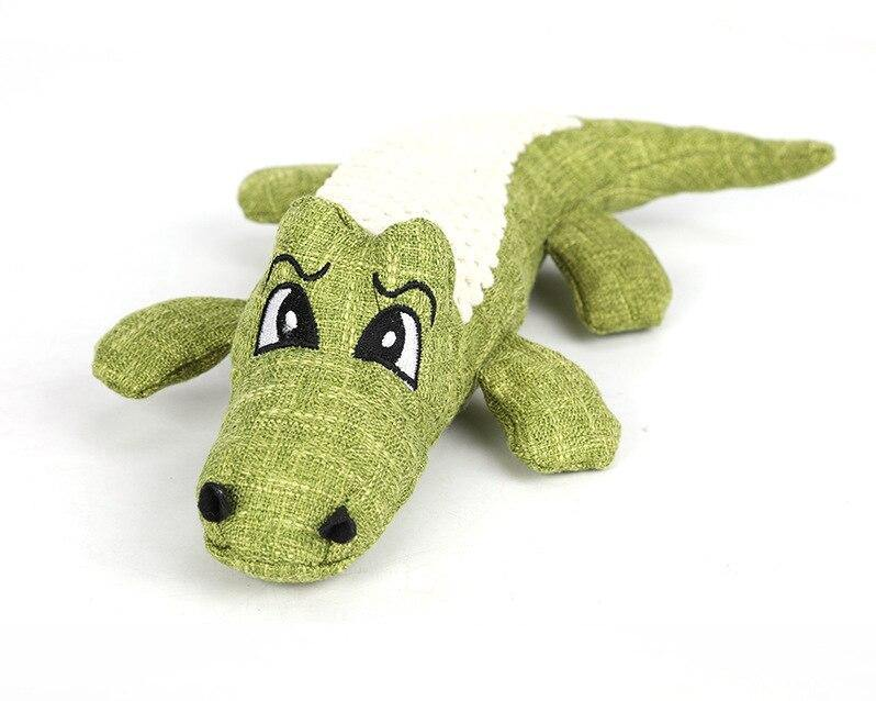 Crocodile Plush Squeaker - Love Pawz