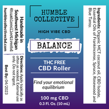 Load image into Gallery viewer, 'Balance' THC Free Roller (100 mg CBD, 10 mL)