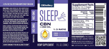 Load image into Gallery viewer, CBN+CBD Sleep Tincture 1:3 (150 mg CBN+450mg CBD, 30ml)