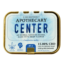 Load image into Gallery viewer, 'Center' Herbal Hemp CBD Smoking Blend (4 g hemp, 6 g total)