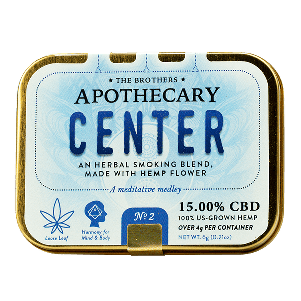 'Center' Herbal Hemp CBD Smoking Blend (4 g hemp, 6 g total)