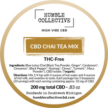 Load image into Gallery viewer, CBD Chai Tea Mix: Various Sizes