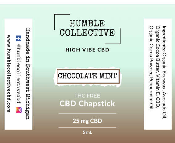 Chocolate Mint Lip Balm (25 mg CBD)