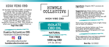 Load image into Gallery viewer, Isolate CBD Oil (THC Free): Various Sizes
