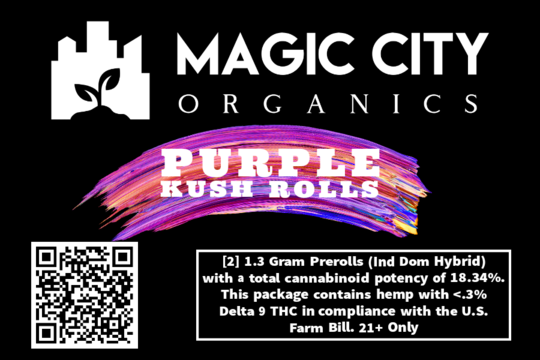 'Purple Kush' Hemp Pre-Roll (2 pack)