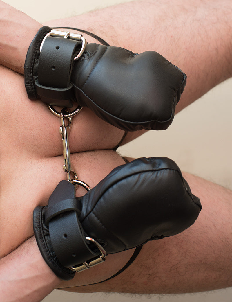 Deluxe Padded Fist Mitts Leather-The Stockroom