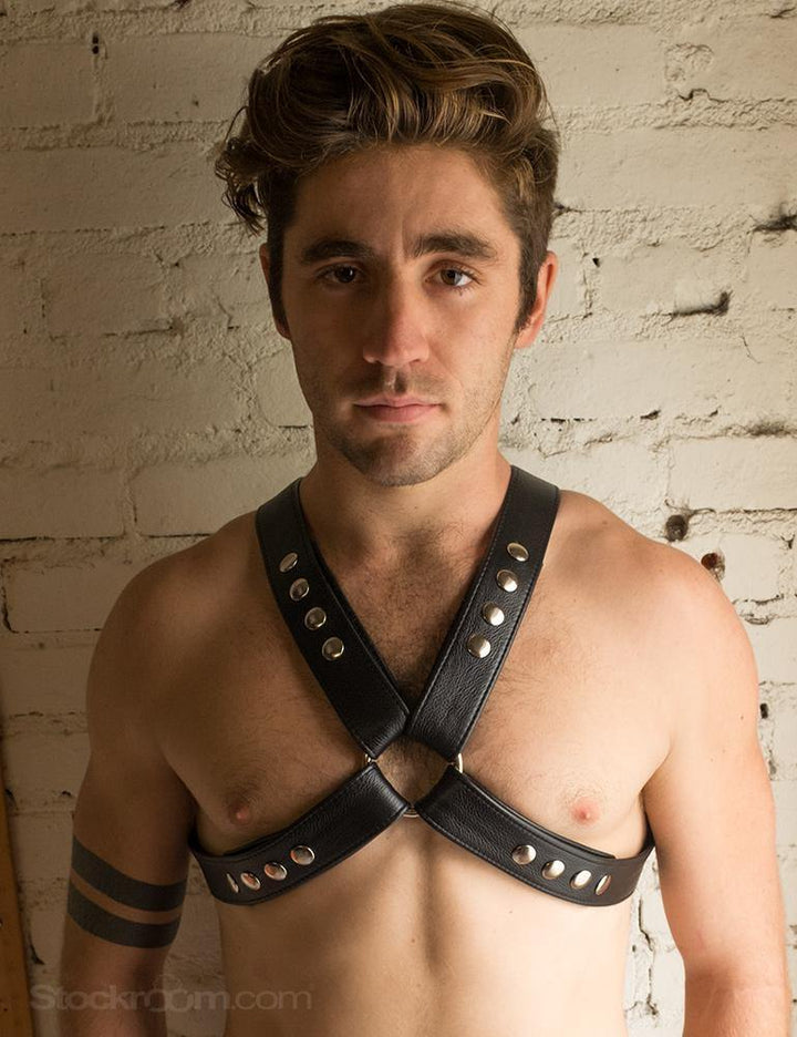 Garment Leather Chest Harness-The Stockroom
