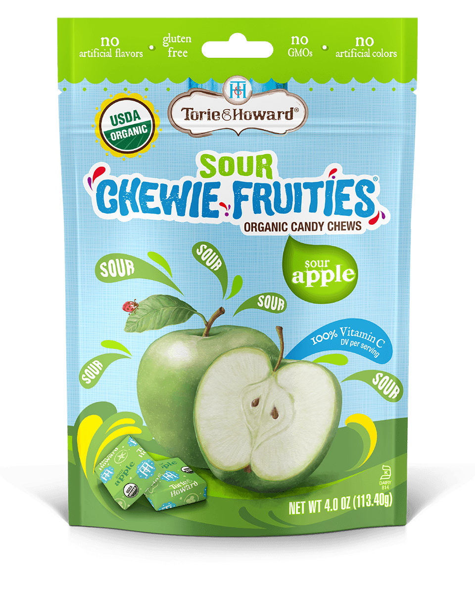 Chewie Fruities Sour Apple Flavor 4oz Bag