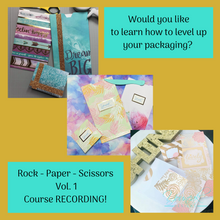 Load image into Gallery viewer, Rock Paper Scissors Vol. 1 - Branded Paper Packaging and Bonus Note Card Course (RECORDING)
