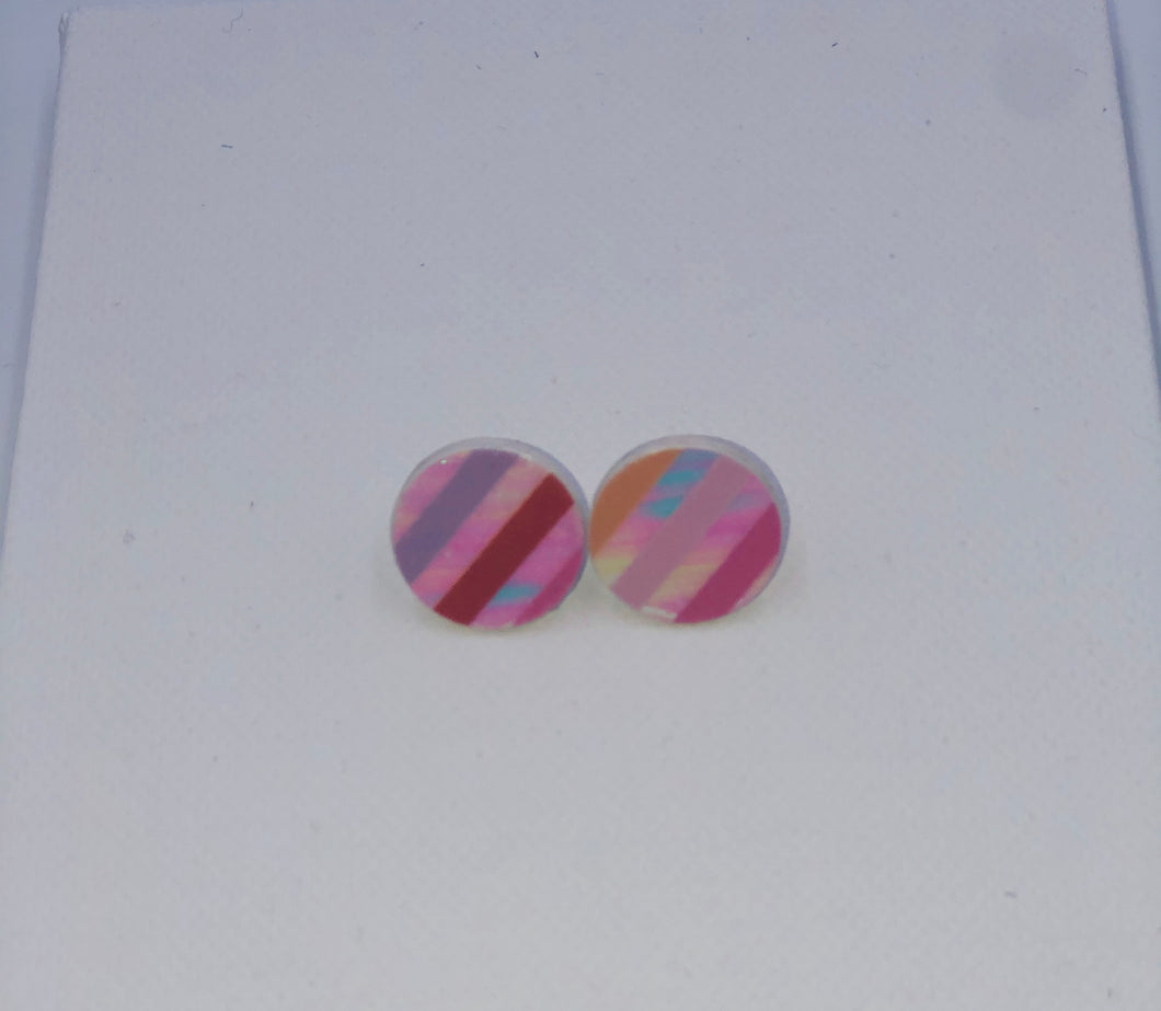 Rainbow Stripe - kid's earrings