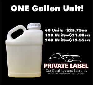 Private Label Acrylic Polymer Quick Detailer ONE GALLON Unit -