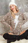 THUNDER LEOPARD BOAT NECK TOP