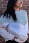 Lovestruck Color Block Chevron Sweater