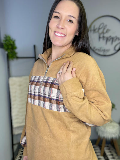 Plaid Fleece Top