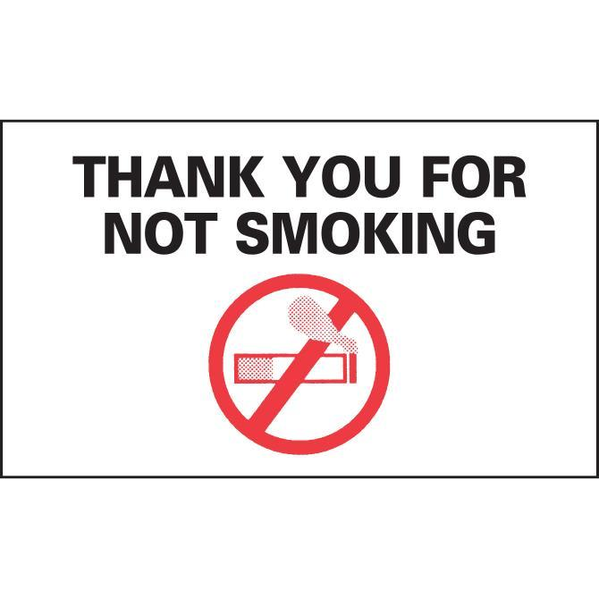 No Smoking Reminders - Static Cling Sales Department Alabama Independent Auto Dealers Association Store