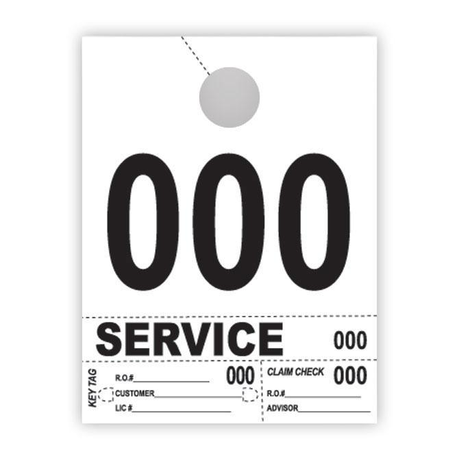 Heavy Brite™ 4 Part Service Dispatch Numbers (White Stock) Service Department Alabama Independent Auto Dealers Association Store (000-999)