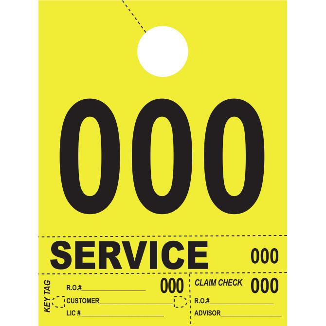 Heavy Brite™ 4 Part Service Dispatch Numbers Service Department Alabama Independent Auto Dealers Association Store Bright Yellow (000-999)