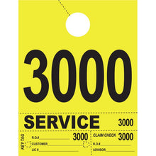 Load image into Gallery viewer, Heavy Brite™ 4 Part Service Dispatch Numbers Service Department Alabama Independent Auto Dealers Association Store Bright Yellow (3000-3999)
